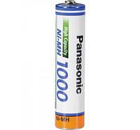 Перезаряжаемая батарейка (аккумулятор) AAA, 1000 mAh, Panasonic, 1 шт, 1.2V, Bulk (BK-4HGAE)