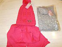 Шапка детская зимняя с шарфом № 346
