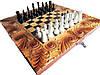 Эксклюзивные шахматы ручной работы,навесы +железные вставки с гравировкой