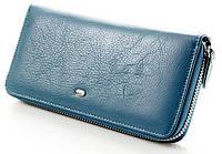 Женский кожаный кошелек клатч на молнии ST, фото 1