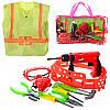 Детский игровой набор инструментов 2004-08 на поясе, дрель(механ), очки, отвертки, плоског, в сумке,