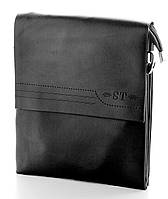 Мужская кожаная сумка планшет ST две ручки, фото 1