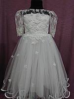 Нарядное детское платье белое на 3-5 лет