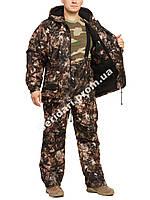 """Утепленный костюм для рыбалки и охоты   """"Шишки"""",мембранная ткань   +15 до -5°C."""
