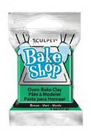 Полимерная глина Зеленая 57гр SCULPEY BAKE SHOP
