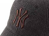 Зимняя бейсболка New York. Кепка NY. Качественные бейсболки. Мужские бейсболки. Лучший выбор бейсболок., фото 3