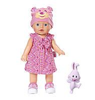 Интерактивная кукла MY LITTLE BABY BORN - УЧИМСЯ ХОДИТЬ (32 см, с погремушкой, ходит, озвучена), фото 1
