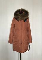 Стильная теплая зимняя куртка парка