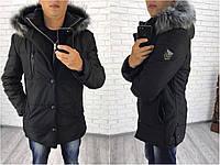 Мужская зимняя куртка,  размер 46, 48, 50, 52. Водоотталкивающая термо плащевка на синтепоне
