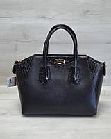 Женская сумка WL 51302 Живанши черная кобра
