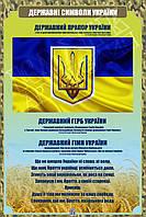 """Стенд """"Державні символи України"""" в кабінет ЗАХИСТ ВІТЧИЗНИ"""