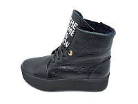 Женские ботинки зимние кожаные Polin Stael 191 Black