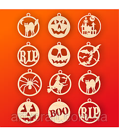 "Набор подвесок ""Хэллоуин"""