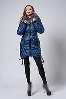 Молодёжная  зимняя  куртка утепленная на силиконизированном синтепоне 42-54 светло-синяя