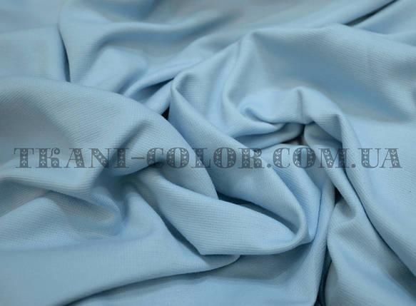 Французский трикотаж голубой, фото 2