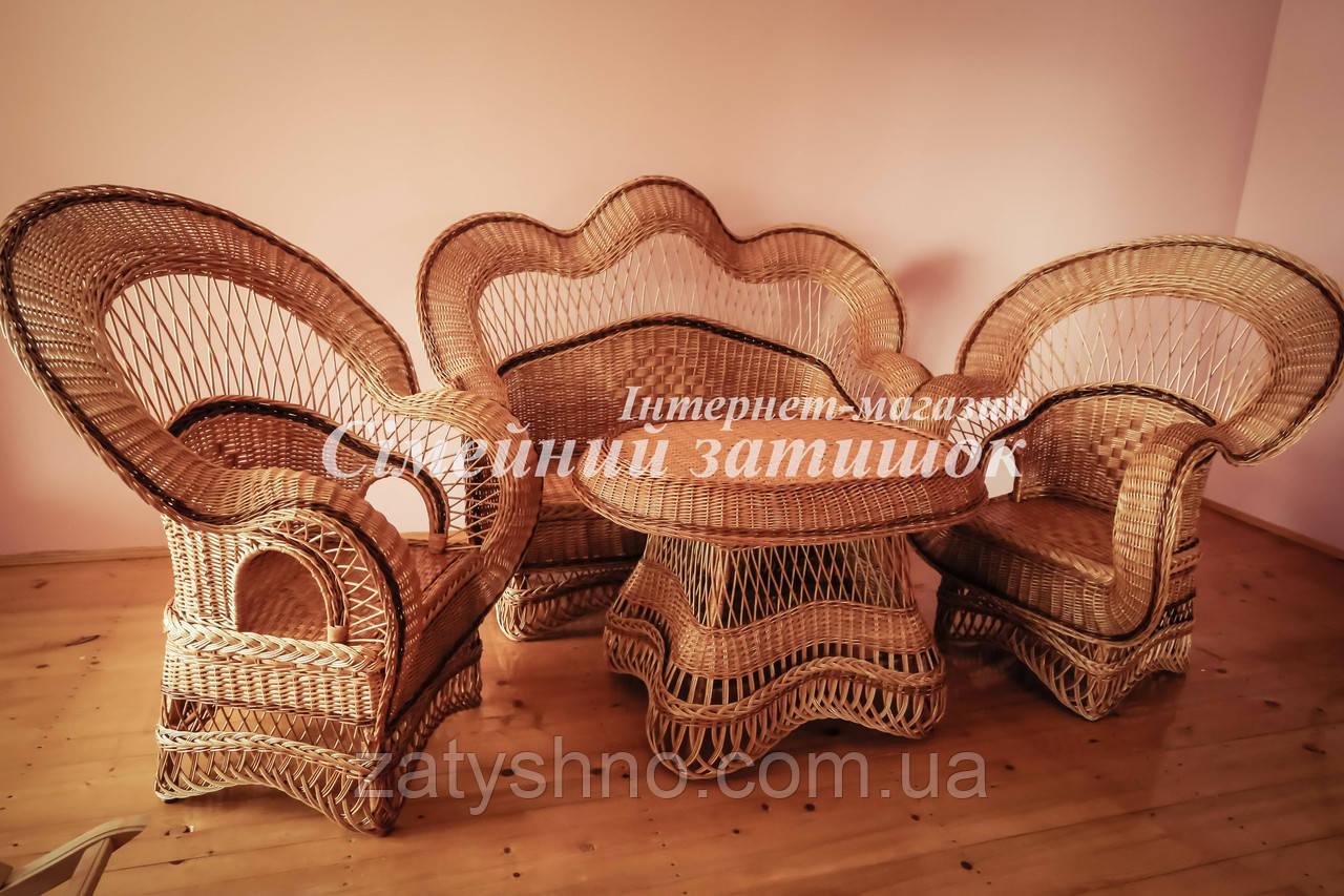 Плетеная мебель из лозы в дом
