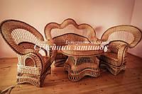 Шикарная мебель плетеная для гостинной