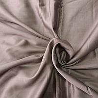 Сатин Люкс однотонный дымчатый коричневый, ширина 240 см