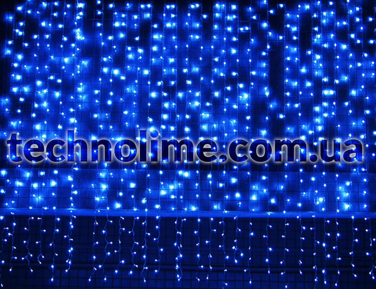 Гирлянда Водопад 3 х 2.5 м. 582 LED синий