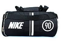 Спортивная мужская сумка бочка черная под NIKE