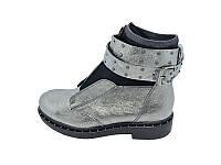 Женские ботинки зимние кожаные TWENTY TWO Stael 1648 Nickel