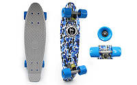 Скейтборд Penny Board CAMO BLUE FISH. Распродажа!, фото 1