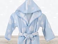Халат детский Cloud голубой 5-6 лет Irya