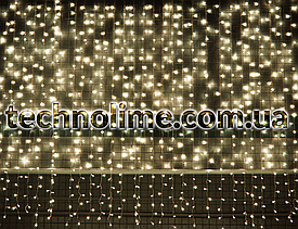 "Гирлянда Водопад 3 х 2.5 м. 560 LED., ""Штора"" теплый белый, белый, синий, разноцветный"
