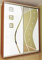 Шкаф-купе с рисунком Альфа Standart