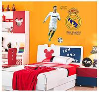 """Интерьерная виниловая наклейка на стену в детскую """"Cristiano Ronaldo"""""""
