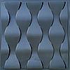 """Пластикова форма для виготовлення 3d панелей """"Ілюзія"""" 50 * 50 (форма для 3д панелей з абс пластика)"""