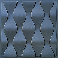 """Пластикова форма для виготовлення 3d панелей """"Ілюзія"""" 50 * 50 (форма для 3д панелей з абс пластика), фото 1"""