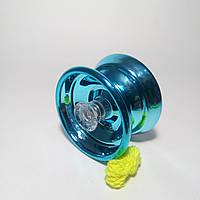 Йо-йо бирюзовое, металлическое с подшипником, фото 1