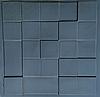"""Пластикова форма для виготовлення 3d панелей """"Квадрат"""" 50 * 50 (форма для 3д панелей з абс пластика)"""