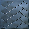 """Пластикова форма для виготовлення 3d панелей """"Косічка"""" 50 * 50 (форма для 3д панелей з абс пластика)"""