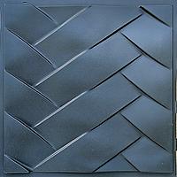 """Пластикова форма для виготовлення 3d панелей """"Косічка"""" 50 * 50 (форма для 3д панелей з абс пластика), фото 1"""