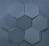 """Пластикова форма для виготовлення 3d панелей """"Сота"""" 50 * 53 (форма для 3д панелей з абс пластика)"""