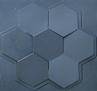 """Пластикова форма для виготовлення 3d панелей """"Сота"""" 50 * 53 (форма для 3д панелей з абс пластика), фото 1"""