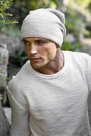 Зимняя мужская шапка-колпак «Дениэл» Светлый кофе