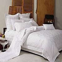 Семейный комплект постельного белья, жаккард с вышивкой