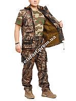 Демисезонный камуфляжный костюм для охоты и рыбалки Осенний лес