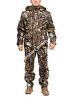 Демисезонный камуфляжный костюм для охоты и рыбалки Лесная чаща