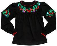 Блуза школьная вышиванка 128 Черный