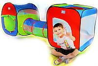 Детская игровая палатка с переходом (240х74х84см) А 999-147 (M 2503)