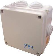 Распределительная коробка наружная 100х100х70мм 7 гермовводов АСКО