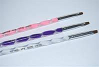 Кисть для моделирования гелем YRE YKGK - №4 искусственная крученная, кисточка для геля, кисть для наращивания ногтей, кисточка для моделирования