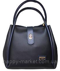 Сумка+косметичка Мини торба женская гладкая 18-14-2