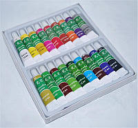 Краски акриловые для росписи ногтей YRE YCR-08  набор 18 цв 12 мл, акриловые краски для росписи ногтей, краски для дизайна ногтей, краска акриловая
