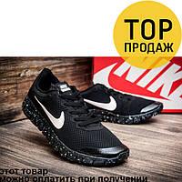 Мужские кроссовки Nike  Free Run 3.0, черного цвета / кроссовки мужские Найк Фри Ран, текстиль, стильные