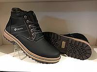 Зимние ботинки Columbia синие и чёрные